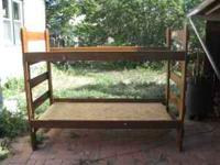 Very Sturdy Bunk Bed. Frame only, no mattresses. Wood