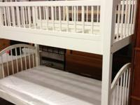 White twin bunk bed set. Brand new set with a small