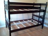 All wood bunk beds sets without bed mattress $250