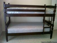 # tag Twin over Twin all wood Bunk Beds set with 2 new