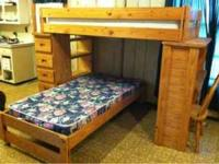 Very nice bunk bed with attached dresser (has 5
