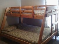 Very nice bunk beds...mattresses included. Has built in