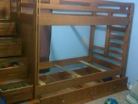 Bunk beds. Good condition. They have stairs on one end
