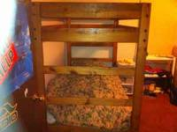 Beautiful. Solid wood. Bunk Beds. Already disassembled