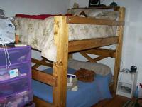 Strong wood bunk beds. Constructed to last. Perfect for