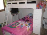 Heavy duty bunk beds. Organize how you like! Includes