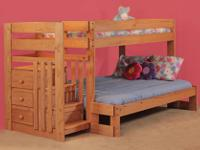 Type:Kids RoomsType:FurnitureBunk Bed set twin over