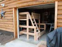 BUNK BEDS, MADE OUT OF SOLID WOOD, THIS IS A TWIN OVER