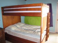Bunk Beds for sale with 2 Full size mattresses    Solid