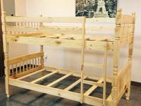 twin over twin vintage style all wood bunk beds without