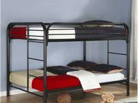 Twin over Twin - Black Metal Bunk Bed --ON SALE $235