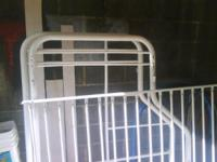 White bunk bed full on bottom twin on top. $50.00 Twin