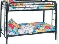 Twin/Twin Black Bunk Bed - $180 - NEW IN BOX 2 Twin