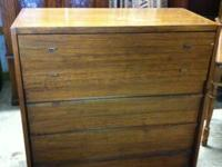 "Solid wood older chest of drawers. Sizes 40""W 42""T"