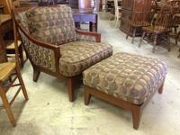 Burg104 Bernhardt Accent Fireside Chair & Ottoman SZ