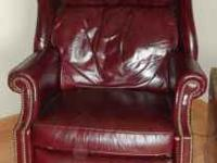 Really nice Burgandy Leather Executive Recliner Chair