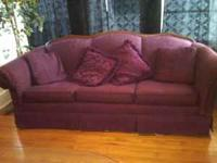 I have a burgundy colored couch. Very good condition,