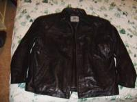 BRAND NEW BURKES BAY XL LEATHER JACKET. LIST FOR 249.00