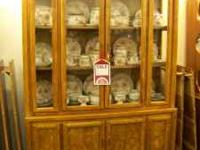 Burled Wood China Hutch On Sale...was $495.00 now is