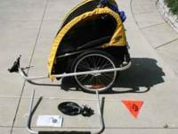 Burley D'lite bike trailer for sale. Approximately 6