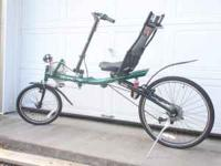 oregon duck green mens recumbent bike Burley holds up