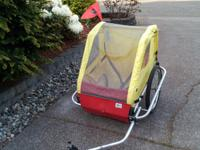 Burley bike trailer, in excellent condition.   This