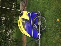 Burley d'Lite bike trailer with 100 lb capacity. There
