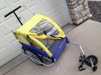 Outstanding Condition Burley Double Bike Trailer/Jogger