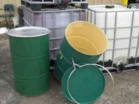 clean 55 gal steel barrels......safe ..had fruit juice