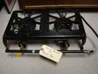 Burner - Double burner - heavy duty cast iron - Outdoor