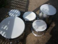 Burswood 5 Piece Drum Set Silver 50.00. In good working