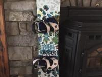 Burton 110cm snowboard with Burton bindings and K2 BOA