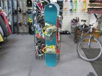 WE HAVE A BURTON CUSTOM 142cm SNOWBOARD WITH BINDINGS