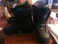 Gently used Burton Moto boots in black size 12. Call  -