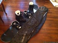 Like new Burton Royale snowboard with Exide bindings.
