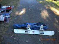 For sale is a burton snowboard with carrying bag, only