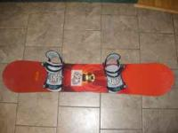 This is a good burton snow board with RIDE bindings. It