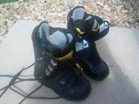 I have an almost new pair of snowboarding boots for