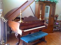 An exceptional Bush and Gerts Baby Grand Piano (Chicago