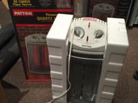 2 Patton brand Tower Quartz Heater (PQH307). Retail