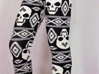 You are looking at one pair of girls skully leggings