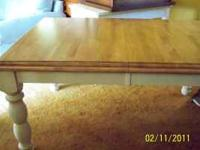 Great condition butcher block dining table with six