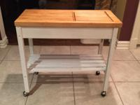 Butcher Block Island  36 inches long /18 inches wide/