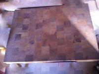 Butcher block slab - solid wood, patterned top, grooves