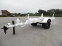 Butler pole trailer single axle extendable - 06147