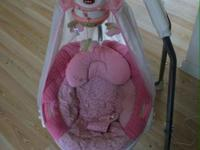 Fisher Price Butterfly Sparkle Papasan Cradle Swing. I