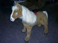 Butterscotch furreal life-size pony by hasbro...stands