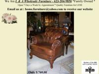 ~ ~ ~ Button Tufted ALL LEATHER big CHAIR ~ ~ ~.
