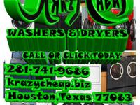 KRAZY CHEAP SELLS WASHERS AND DRYERS AT AFFORDABLE