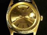 BUYING: ROLEX, OMEGA, CARTIER, PATEK PHILIPPE,